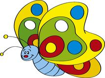 Butterfly. Vector illustration of Cute colorful flying butterfly Stock Photos
