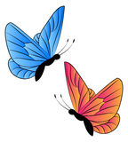 Butterfly. Vector illustration of two butterflies Stock Photography