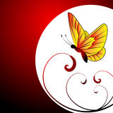 Butterfly. Vector illustration of a colorful butterfly Royalty Free Stock Image
