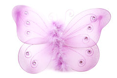 Butterfly. Isolated fluffy butterfly toy Royalty Free Stock Image