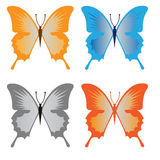 Butterfly. Four simple butterfly insect  graphic Royalty Free Stock Image
