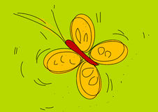Butterfly. Yellow butterfly in different colors. ai file available Royalty Free Stock Image