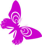 Butterfly. Abstract  illustration for design Royalty Free Stock Photo