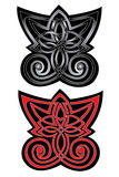 Butterfly. There is a tattoo pattern Stock Image