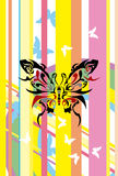 Butterfly. This graphic is colorful butterfly Royalty Free Stock Images