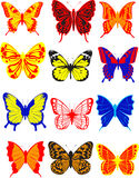 Butterfly. Different multicolored butterflies -  eps8 Stock Photo