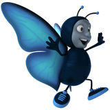 Butterfly. Fun butterfly, 3d generated picture Stock Photos