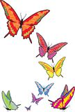 Butterfly. Illustration made from s by hand after a photo of the insect Royalty Free Stock Photography