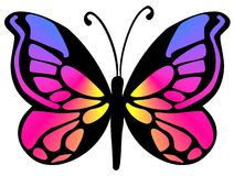 Butterfly 18. Ornamental butterfly in various colours Royalty Free Stock Photo