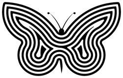 Butterfly. Spiral butterfly over white background Royalty Free Stock Photos