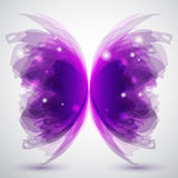 Butterfly. Background with transparent butterfly's shape Stock Images