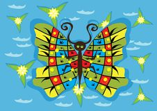 Butterfly. Abstract butterfly on isolated background. Illustration Royalty Free Stock Photos