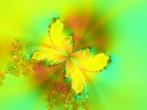 Butterfly. Fractal butterfly in spring/ summer colors vector illustration