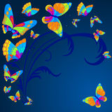 Butterfly. Vector illustration with colorful butterflies for greeting card Stock Photos