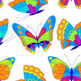 Butterfly. Vector illustration with colorful butterflies for seamless background Stock Photography