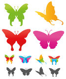 Butterfly. 's colorful icon illustration easy three styles variation Royalty Free Stock Photography