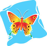 Butterfly. Beautiful  butterfly Spreading its wings Royalty Free Stock Photography