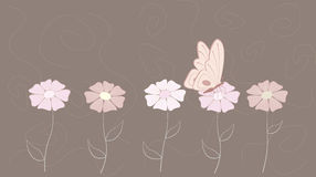 Butterfly. Among flowers. This is file of EPS8 format royalty free illustration