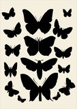 Butterfly. Lots of butterfly - vector illustration Royalty Free Stock Photo