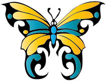 Butterfly. Tribal easy to resize or change color Stock Photos
