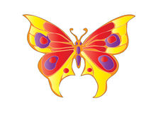 Butterfly. Tribal easy to resize or change color Stock Images
