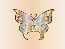 Butterfly. Easy to resize or change color Royalty Free Stock Image
