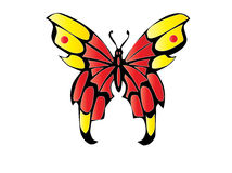 Butterfly. Tribal easy to resize or change color Royalty Free Stock Image