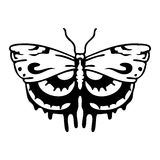 Butterfly. Tattoo vector design beautiful Royalty Free Stock Images