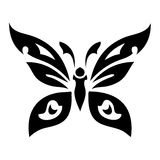 Butterfly. Tattoo vector design beautiful Stock Photo