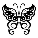 Butterfly. Tattoo vector design beautiful Stock Images