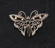 Butterfly. A Butterfly mounted in brooch Stock Images