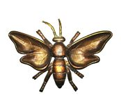 Butterfly. This is an isolated bronze insect, a beautiful butterfly, mysterious brown brooch stock photo