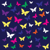 Butterfly. Seamless pattern (can be repeated and scaled in any size Stock Images