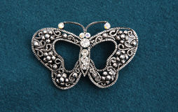 Butterfly. A Butterfly mounted in Brooch Stock Photography