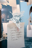 Butterfly. With a paper and an inscription Royalty Free Stock Photography