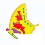 Butterfly#1黄色 皇族释放例证