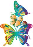 Butterfly. In  of retro colors Stock Images