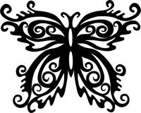 Butterfly. Black and white decorated butterfly Royalty Free Stock Photo