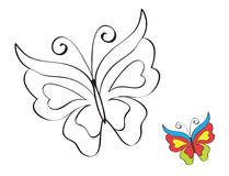Butterfly. Printable coloring page for children Royalty Free Stock Photography