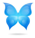 Butterfly. Beautiful blue butterfly, may be used as icon Stock Photography