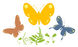 Butterfly abstract 2. Vector illustration. Abstract with butterflies Stock Images
