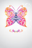 Butterfly abstract. A vector illustration of butterfly abstract design Royalty Free Stock Images