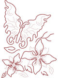 Butterfly abstract art design plant. Art royalty free illustration