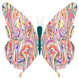 Butterfly in abstract colors Royalty Free Stock Photos