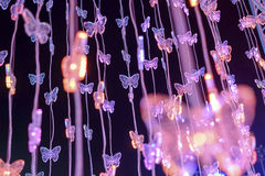 Butterfly abstract crystal background Stock Photos