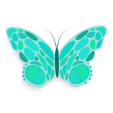 Butterfly abstract. Isolated on a white backgrounds, vector illustration stock illustration