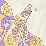 Butterfly and abstract pattern Stock Photography