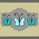 Butterfly album page Stock Photography
