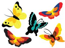 Butterfly Animal Icon, Cartoon and Vector Illustration. For any purpose such as cover and illustration book, website, social media, blog, stationary, print Royalty Free Illustration