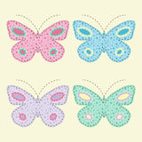 Butterfly appliques Royalty Free Stock Images